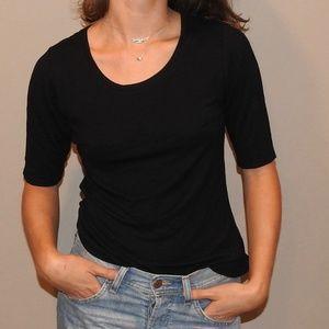 Cynthia Rowley Staple Black Shirt